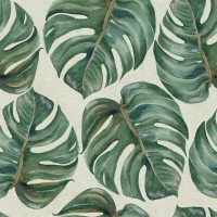 Mind The Gap Wallpaper  - Tropical Leaf